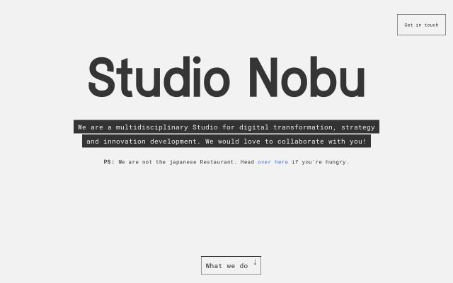 Screenshot of Nobu