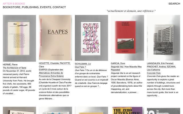 Screenshot of After8books