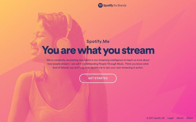 Screenshot of Spotify
