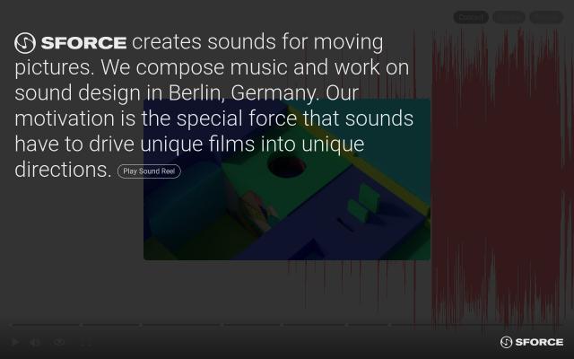Screenshot of Sforcemusic