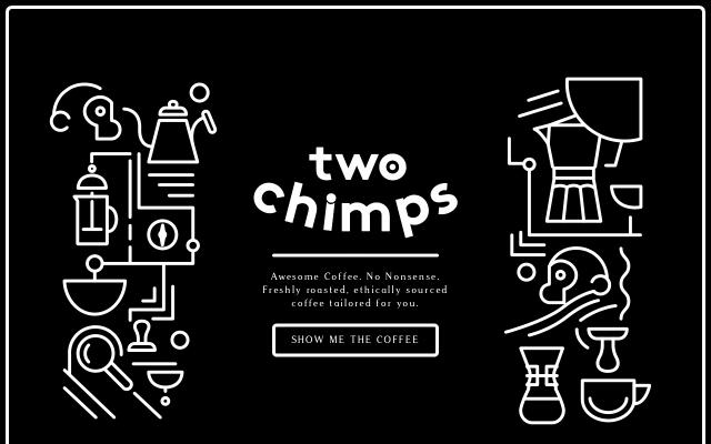 Screenshot of Twochimpscoffee