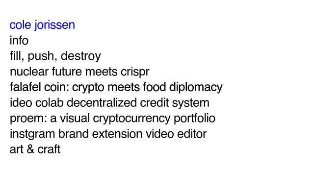 Screenshot of Colejorissen