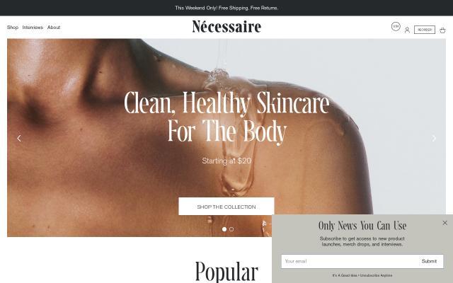 Screenshot of Necessaire