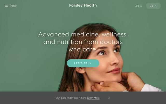 Screenshot of Parsleyhealth