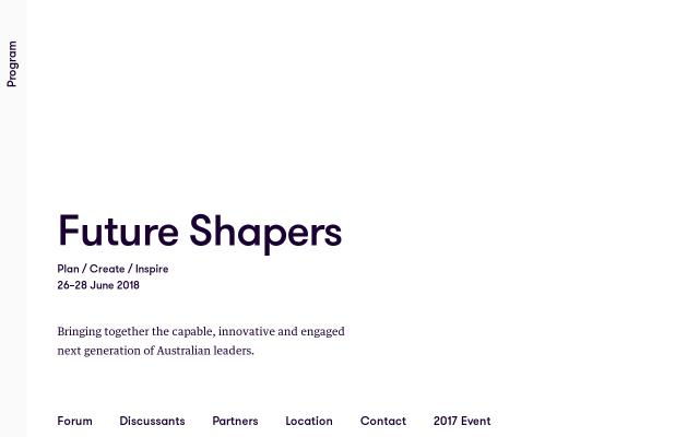 Screenshot of Futureshapers