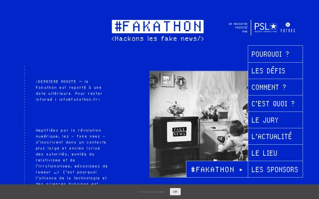Screenshot of Fakathon