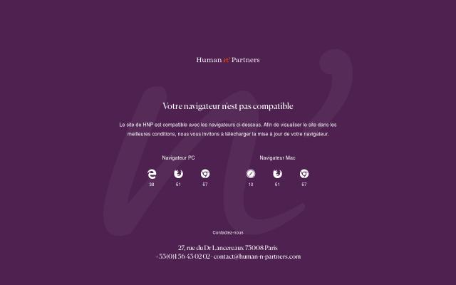 Screenshot of Human-n-partners
