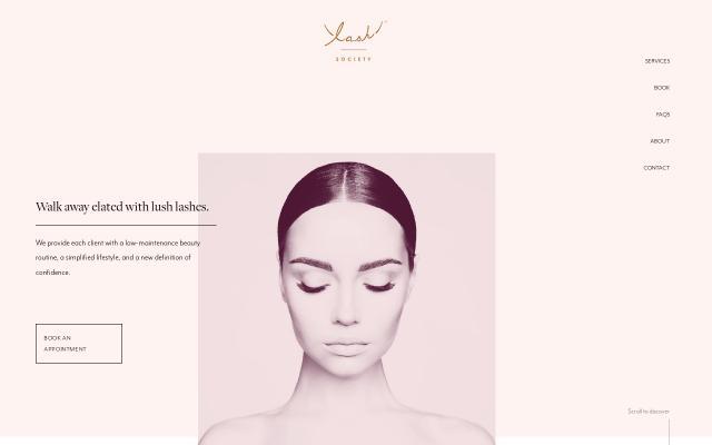 Screenshot of Lashsociety