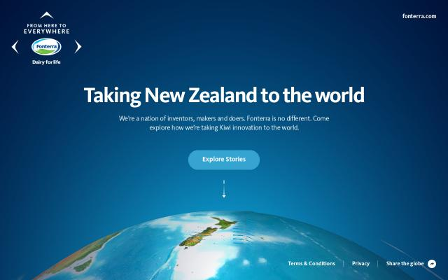 Screenshot of Fonterra