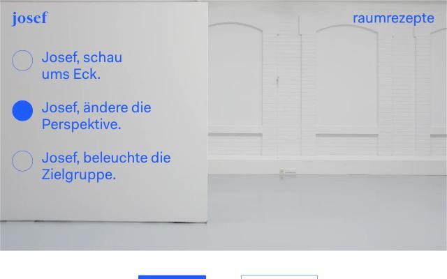 Screenshot of Josef