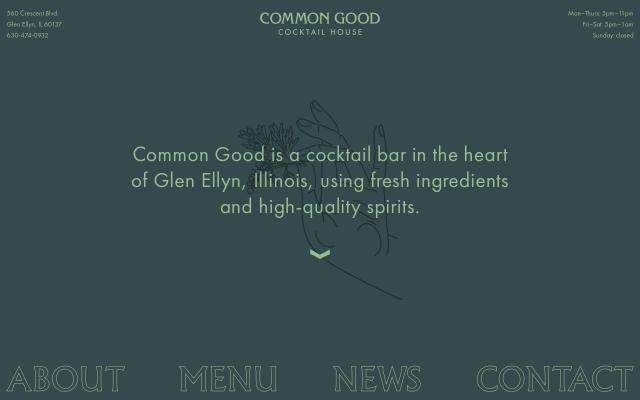 Screenshot of Commongoodcocktailhouse