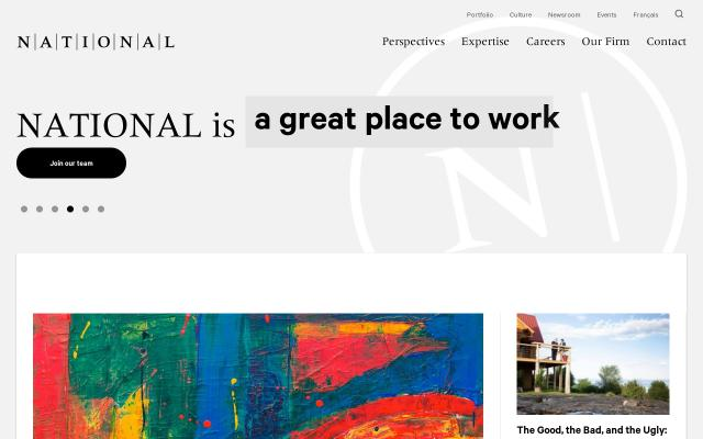 Screenshot of National