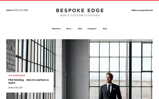 Screenshot of Bespokeedge