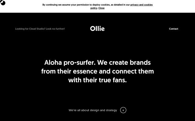 Screenshot of Olliebranding