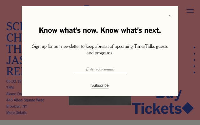 Screenshot of Timestalks