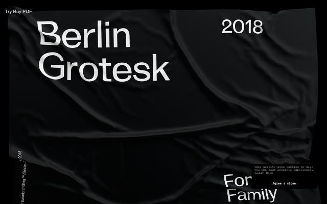 Screenshot of Berlin-grotesk