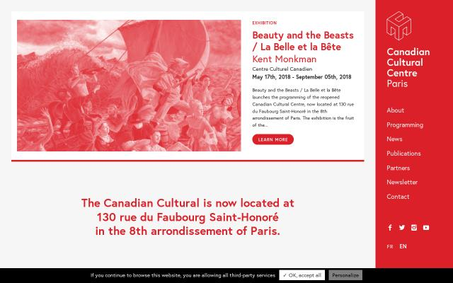 Screenshot of Canada-culture