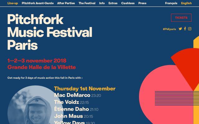 Screenshot of Pitchforkmusicfestival