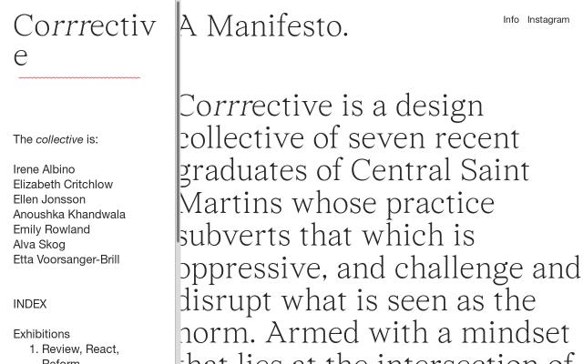 Screenshot of Corrrective