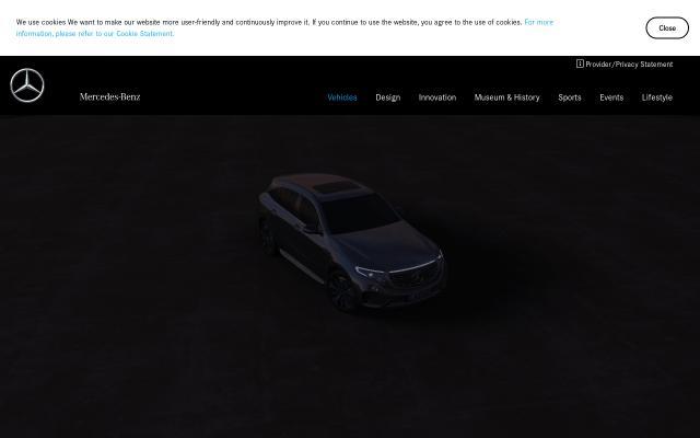 Screenshot of Mercedes-benz