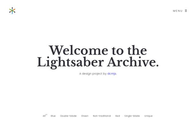 Screenshot of Lightsaberarchive