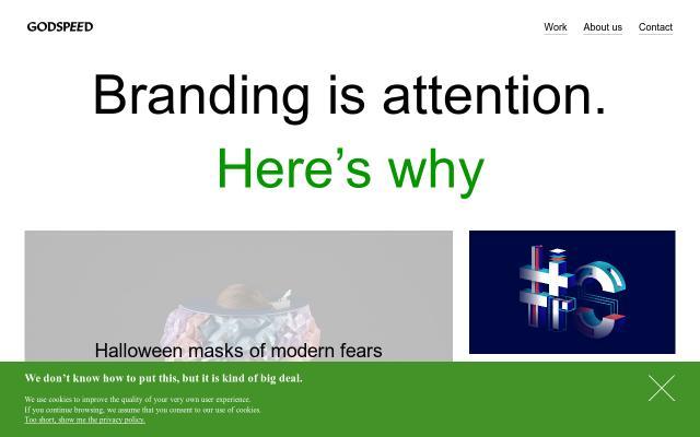 Screenshot of Godspeedbranding