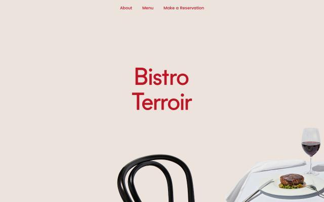 Screenshot of Bistroterroir