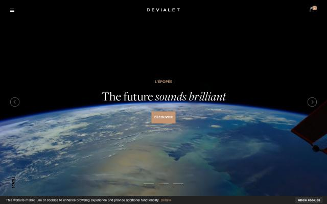 Screenshot of Devialet