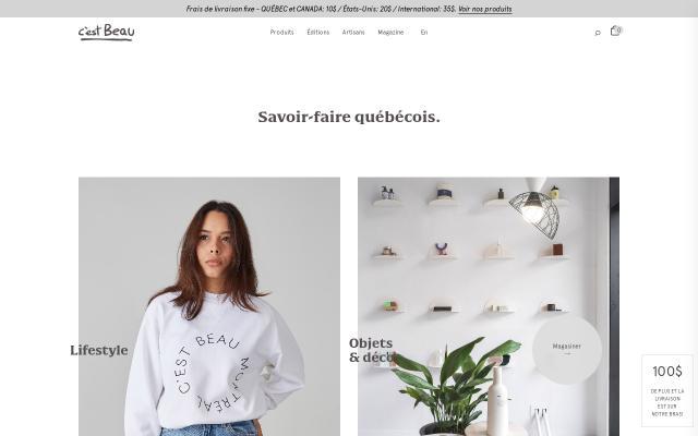 Screenshot of C'est beau