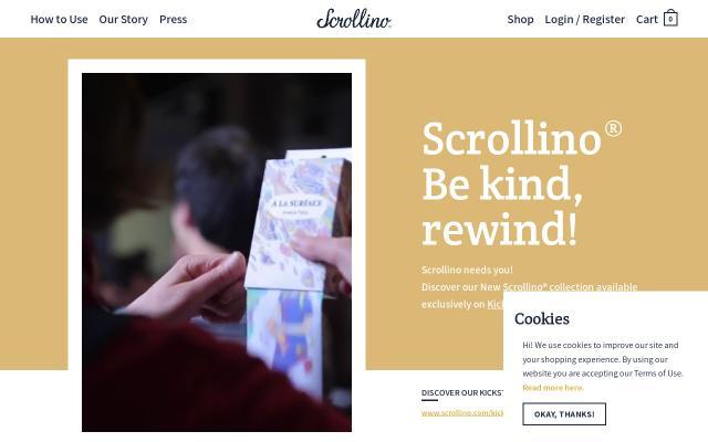 Screenshot of Scrollino