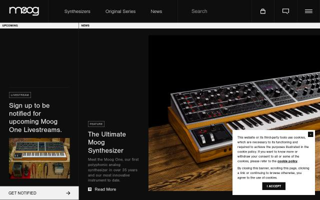 Screenshot of Moogmusic