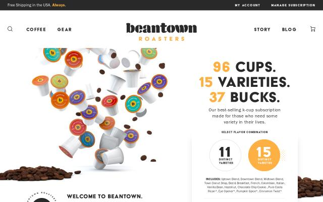 Screenshot of Beantownroasters
