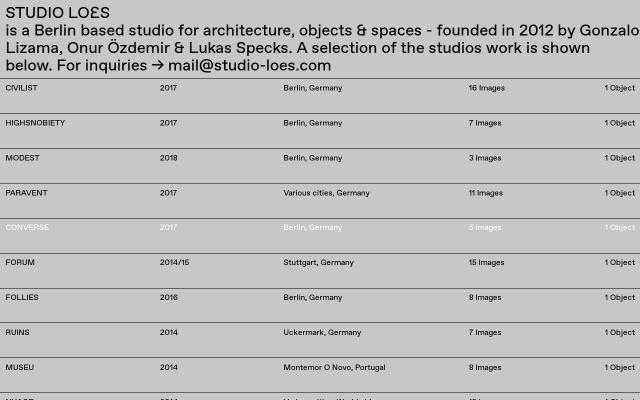 Screenshot of Studio-loes