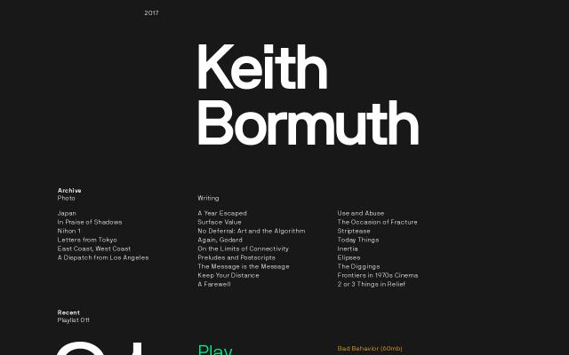 Screenshot of Keithbormuth