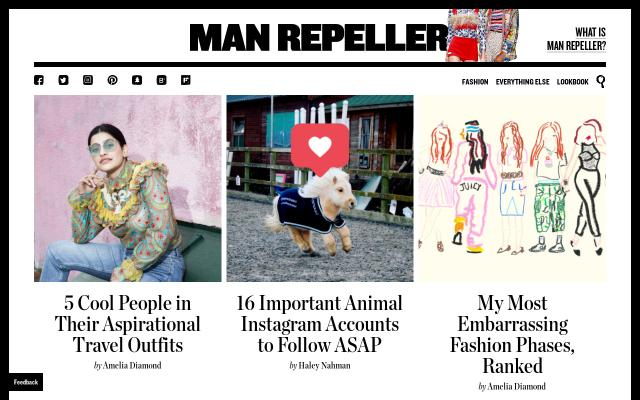 Screenshot of Manrepeller
