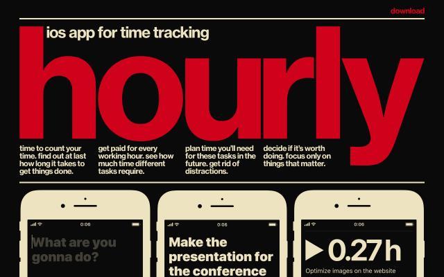 Screenshot of Hourly-app