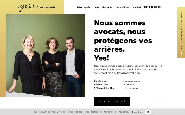 Screenshot of Yes-avocats