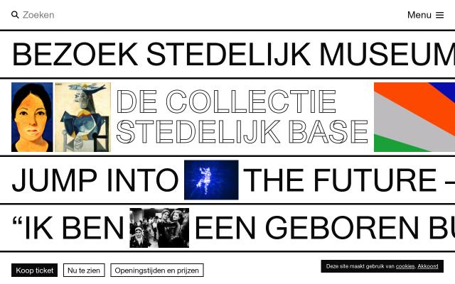 Screenshot of Stedelijk
