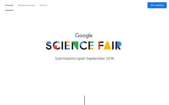 Screenshot of Googlesciencefair