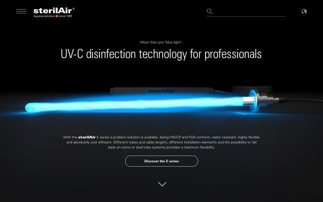 Screenshot of Sterilair