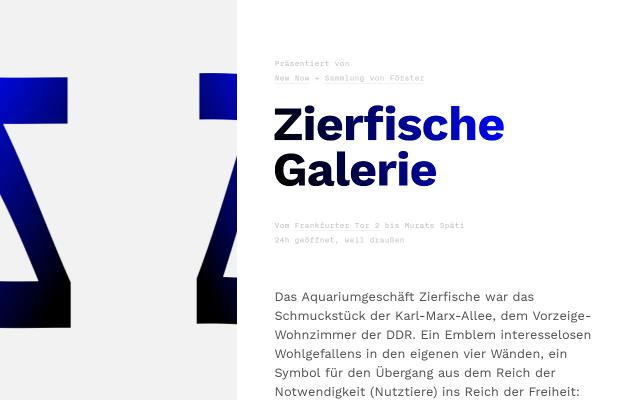 Screenshot of Zierfischegalerie