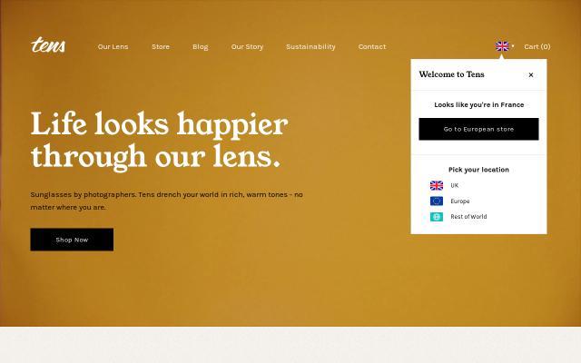 Screenshot of Tens