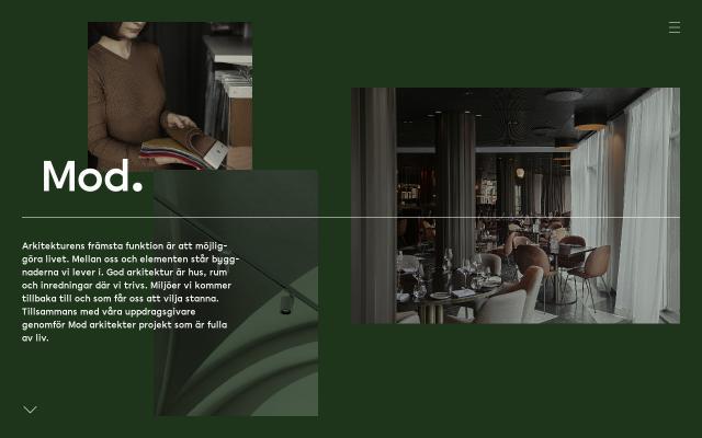 Screenshot of Modarkitekter