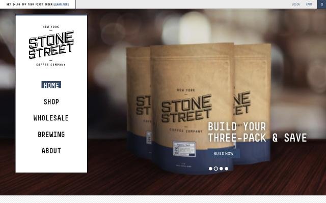 Screenshot of Stonestreetcoffee
