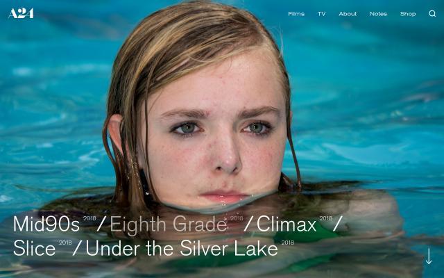 Screenshot of A24 films