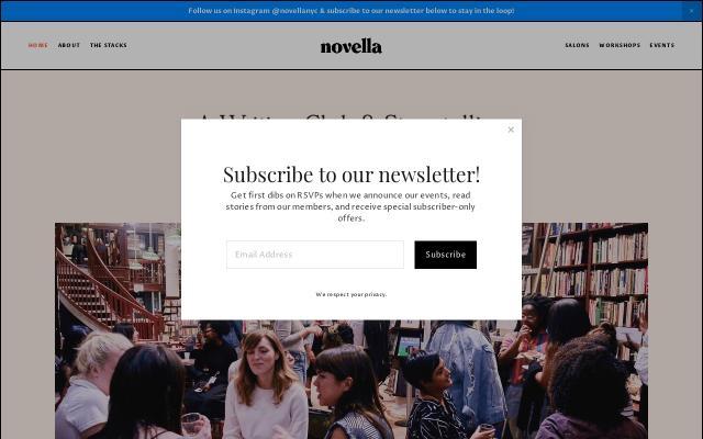Screenshot of Novella