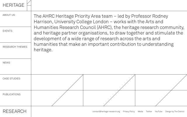 Screenshot of Heritage-research
