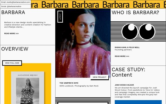 Screenshot of Barbara creative