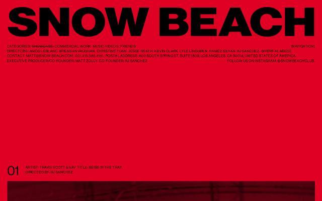 Screenshot of Snow-beach