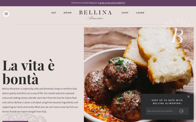 Screenshot of Bellina-alimentari